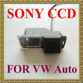 car camera!!! SONY CCD Car Rear View Reverse CAMERA for VW Volkswagen Polo V (6R)/ Golf 6 VI/ Passat CC With Guide Line image