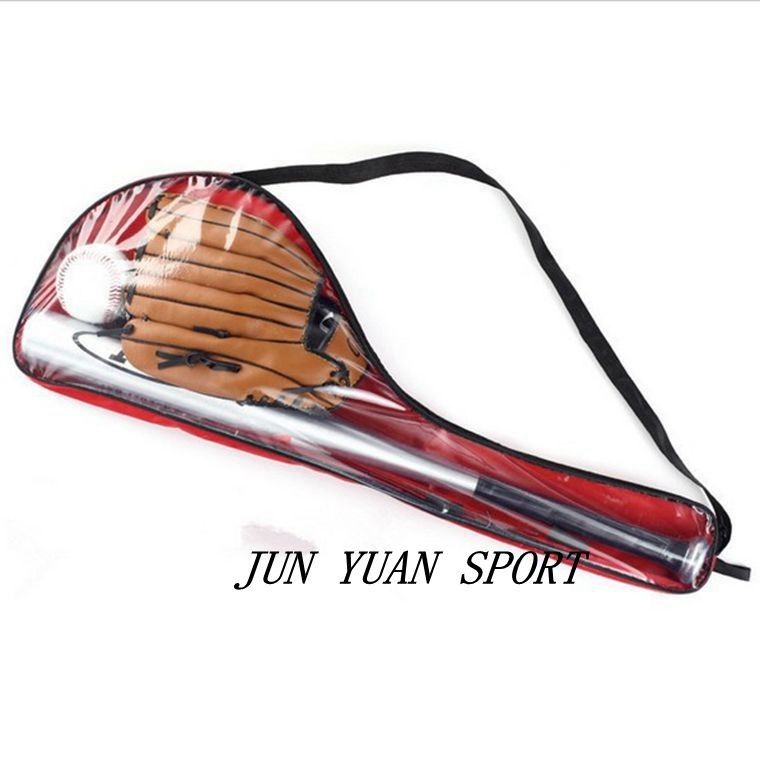 Leather Baseball Glove Aluminium Baseball Bat and Baseballs