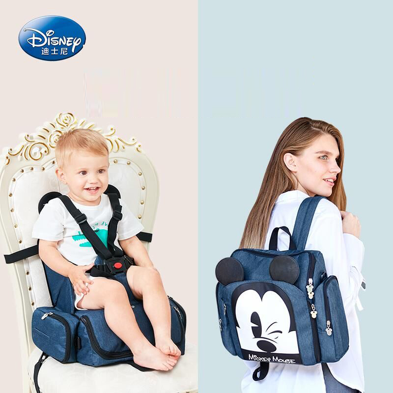 Hot Sale Disney Dining Chair Bag Multifunctional Diaper Bag Waterproof Handbag Nappy Backpack Travel Mummy Bags Baby Carry-in Diaper Bags from Mother & Kids    1