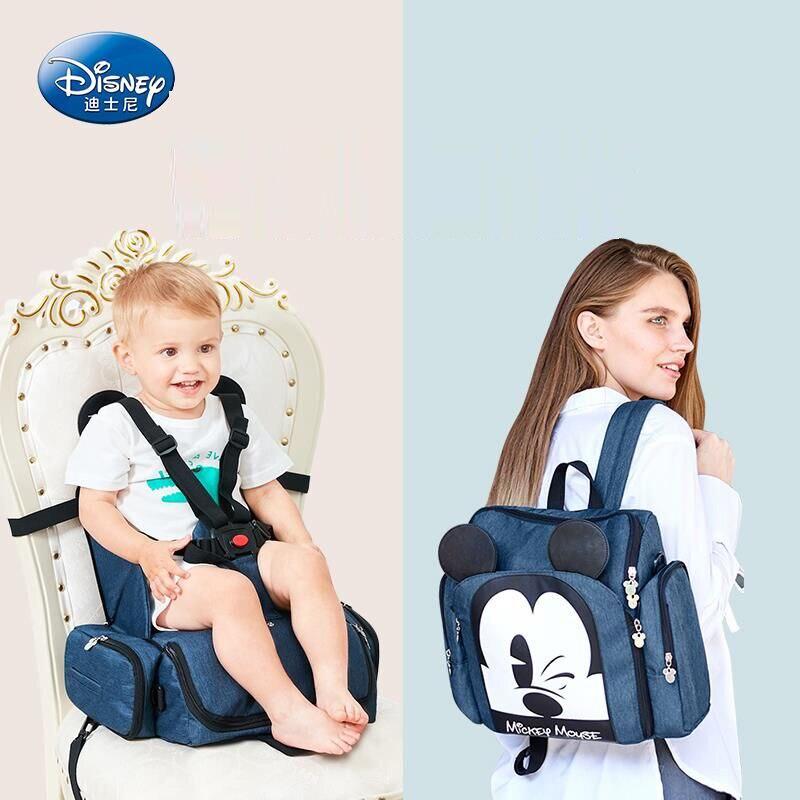 Vendita calda Disney Sedia Da Pranzo Borsa Multifunzionale Diaper Bag Sacchetto Impermeabile Del Pannolino Borsa Borsa Da Viaggio Zaino Borse Mummia Bambino Carry