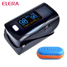 ELERA Newest!! Finger Pulse Oximeter WITH CASE Blood Oxygen a Finger SPO2 PR PI Oximetro de dedo digital Portable Oximeter