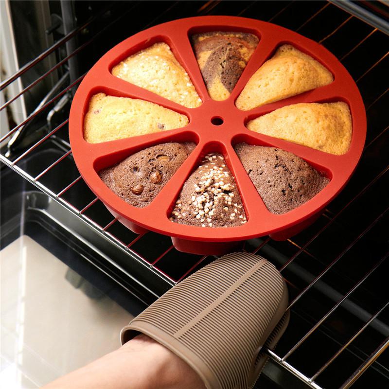 烤盘模具蛋糕盘硅胶蛋糕模布丁三角蛋糕模松饼烘焙工具软糖蛋糕模8