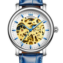 TSS Механические Часы мужские Скелет наручные часы Человек часы Кожа Relogio Masculino Роскошные Мода Повседневная светящиеся Наручные Часы