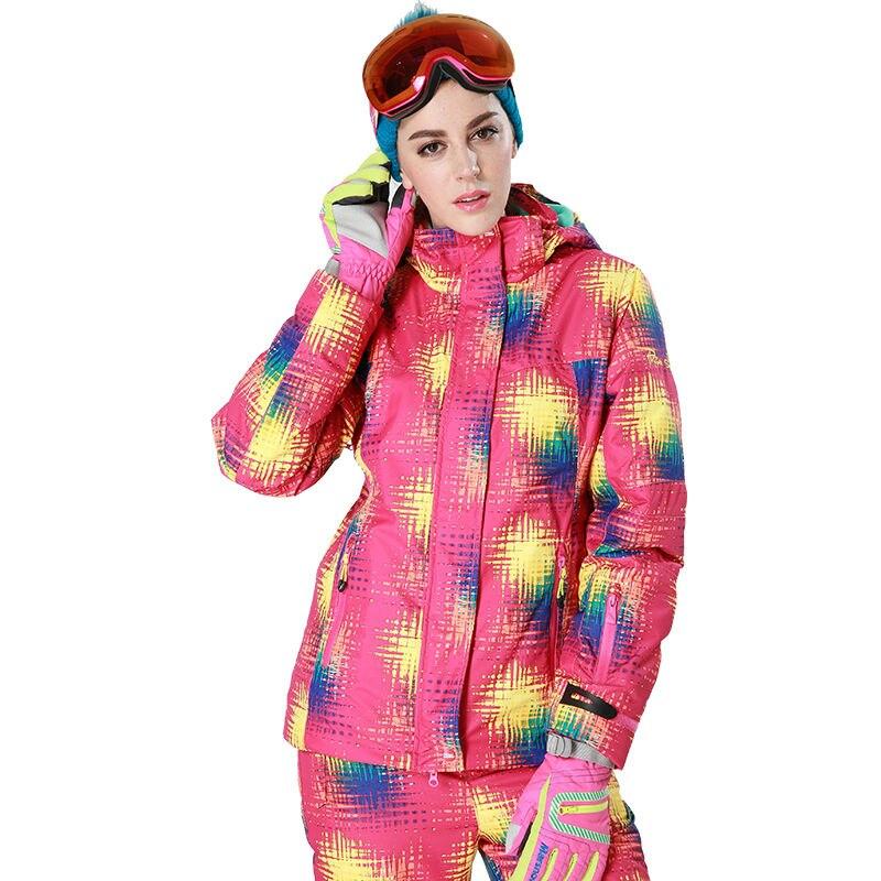 ФОТО Phibee Women Waterproof Ski Jacket  Thick Snow Jacket Windproof  -30 Degree