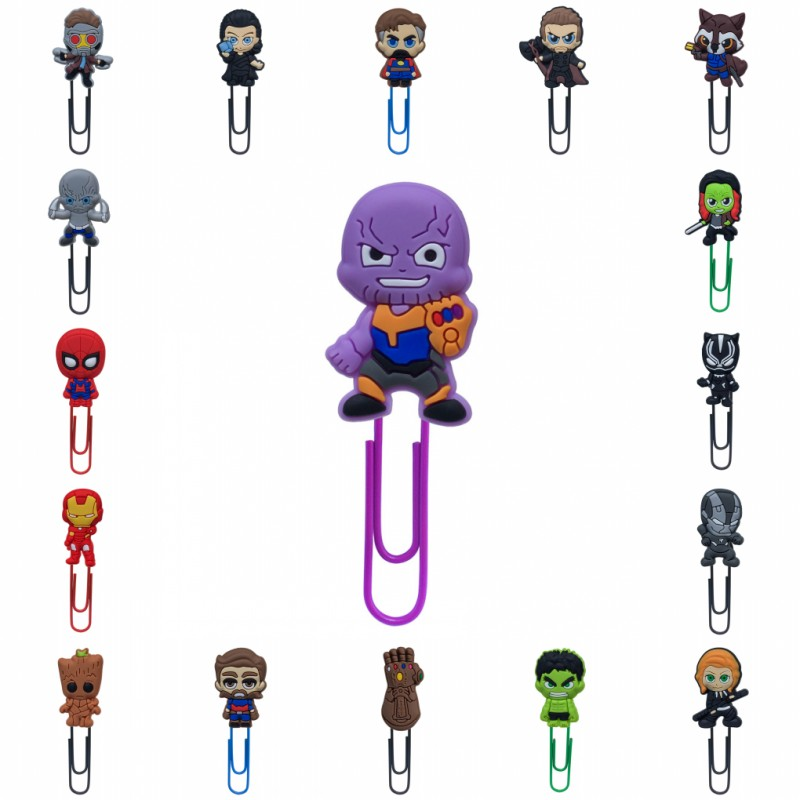18pcs/lot Marvel Avenger Hot Movie Icon Bookmarks Infinity War Paper Clip School&Office Supplies Kid Stationery Xmas Gift