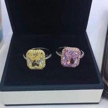 Модельер 925 стерлингов Серебряные ювелирные изделия 3A кубического циркония кольцо