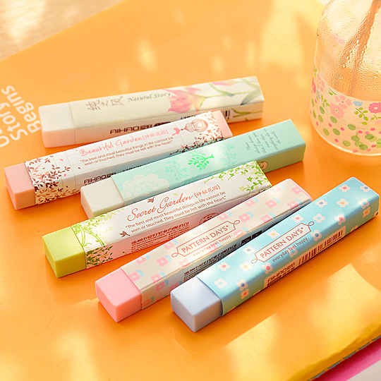 2 Pcs/lot Cube Pencial Eraser Cute Kawaii School Supplies Stationery Correction Products