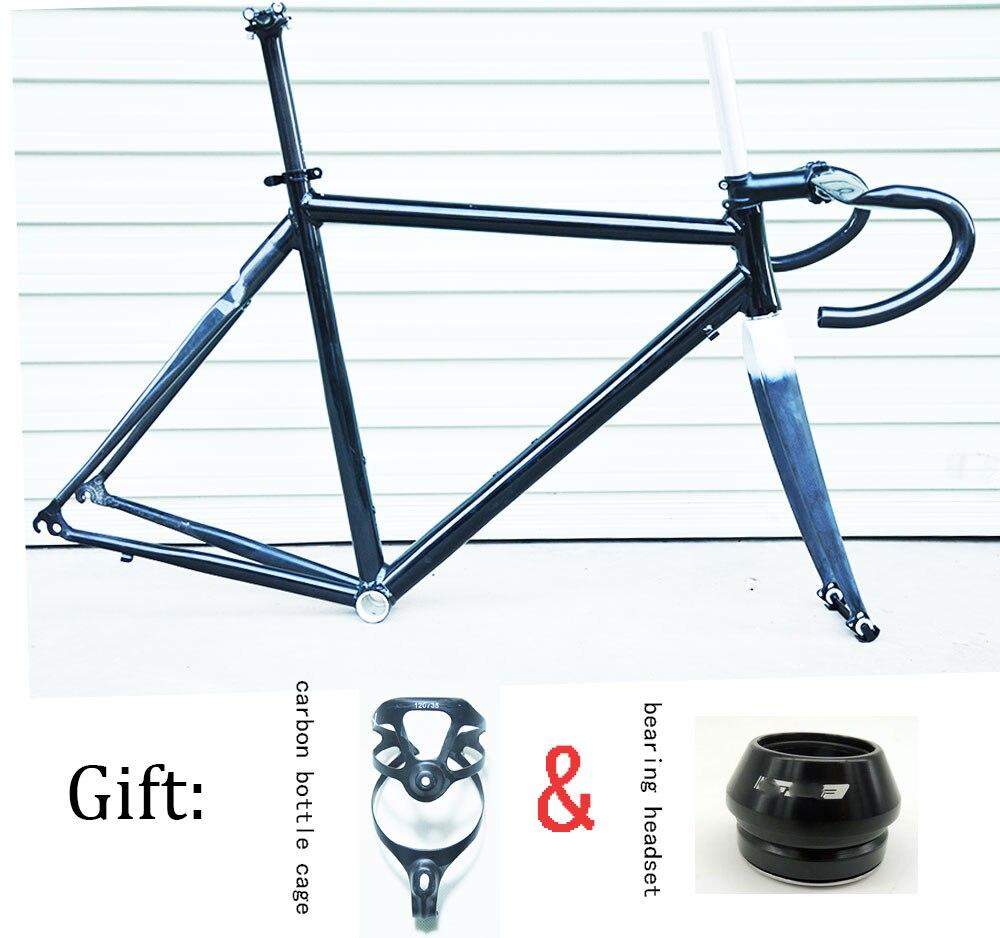 56 cm demi DIY carbone cadre carbone vélo de route avec guidon de carbone et tige de selle carbone 41mm casque