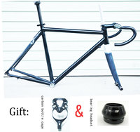56 cm half DIY carbon frame carbon road bike with carbon handlebar and carbon seat post 41 mm headset