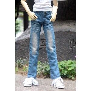 """Image 2 - אור כחול ג ינס מכנסיים מכנסיים תלבושות בגדי 1/4 זכר 1/3 SD17 70cm24 """"גבוה BJD בובת SD DK DZ MSD AOD DD בובת ללבוש"""