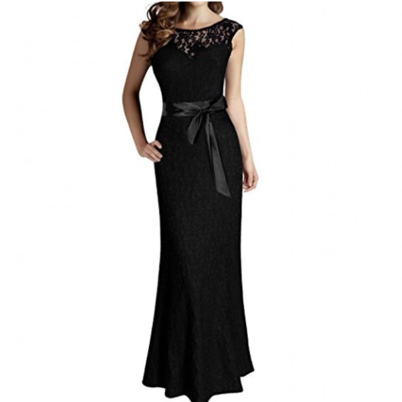Discount Designer Evening Dresses: Elegant Black Green Purple Lace Formal Evening Dresses