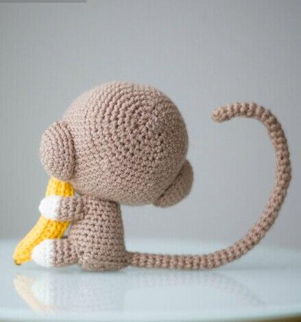 Monkey Haak Gehaakte pop rammelaar Amigurumi 2
