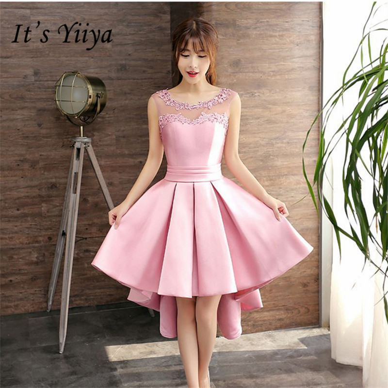 It's YiiYa New Pure Color Lace Strapless   Cocktail     Dress   Fashion Sleeveless Formal   Dress   Party Gown H123