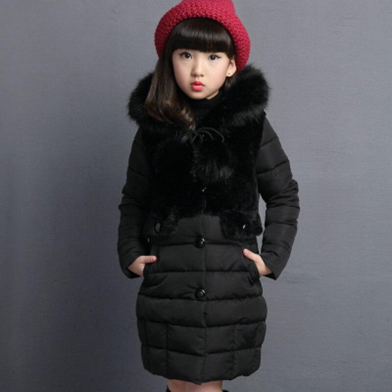 Одежда из хлопка для девочек; коллекция 2019 года; зимняя одежда; утепленная хлопковая одежда средней длины; детская хлопковая куртка; хлопковое пальто; 14; 13