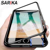 Sarika étui pour iPhone 7 magnétique en métal 8 6 6s Plus 360 étui de protection complet pour Coque iPhone X XR XS Max 5 5s se
