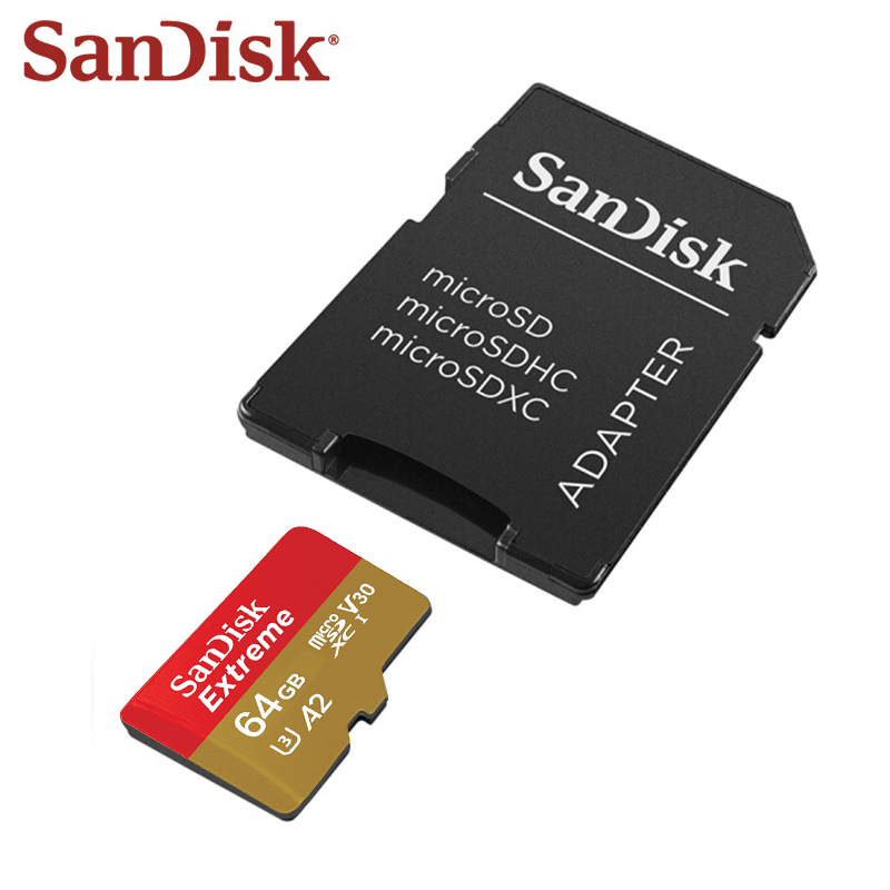 SanDisk Extreme Memory Card High Speed 160MB/s 64GB 128GB A2 U3 Micro SD Card UHS-I V30 4K 32GB A1 TF Card Microsd Card