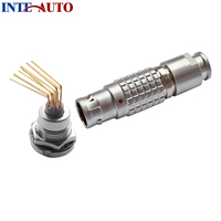 LEMO Connector Metal Wire Plug Receptacle With Elbow PCB Contacts Cross FGG ECG M12 Connector Male
