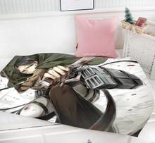 Attack On Titan Anime Rivaille Mini Single-layer Baby Blanket #40377 halder japanese cartoon anime animation attack on titan keychains armin arlart rivaille ackerman chatacters trinkets accessories
