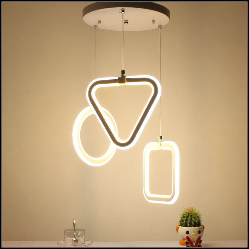 цена на modern Originality minimalist restaurant living room bedroom bar office geometry LED pendant lights pvc LO842