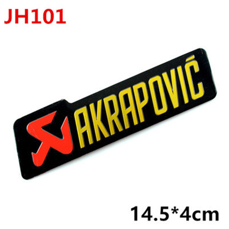 3D Aluminum Heat-resistant Motorcycle Exhaust Pipe Decal Sticker For Scorpio Yoshimura Akrapovic MIVV Leovince Two Brother Arrow 2