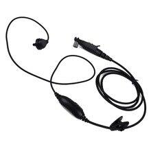 Para radio Motorola GP328plus Multi Pin auricular PTT MIC auriculares GP338plus GP344 GP388 Radio Walkie Talkie de tubo acústico encubierto