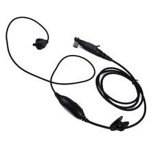 Per la radio Motorola GP328plus Multi Pin Auricolare PTT MIC Covert Acoustic Tubo Auricolare GP338plus GP344 GP388 Radio Walkie Talkie