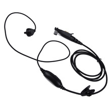 for Motorola radio GP328plus Multi-Pin Earpiece PTT MIC Headset GP338plus GP344 GP388 Radio Walkie Talkie Covert Acoustic Tube