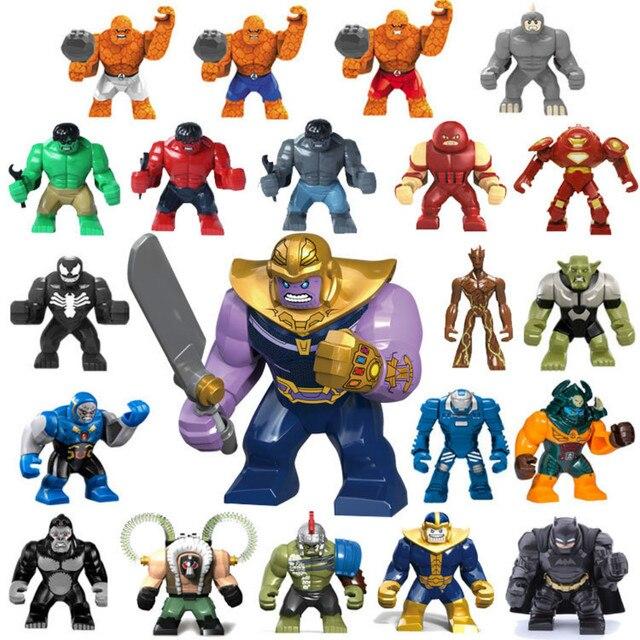 Grande Batman homem Aranha Maravilha Thanos Figura de Ação Vingadores Tijolos de Blocos de Construção Tijolos 4 Herói Hulk Gorila Duplo