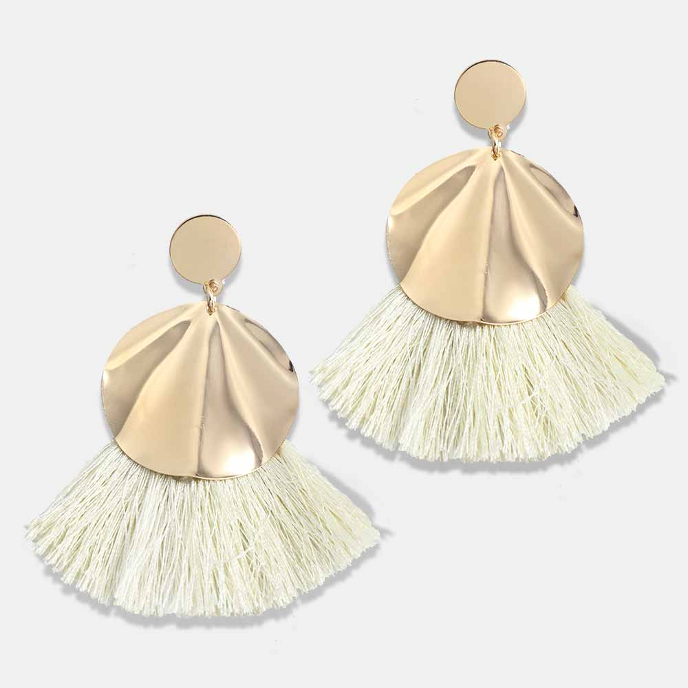 2018 Bohemian 8 Colors Big Tassel Earrings Gold Colour Circle Fation Handmade Qualities Earring For Women Drop Jewelry Gifts