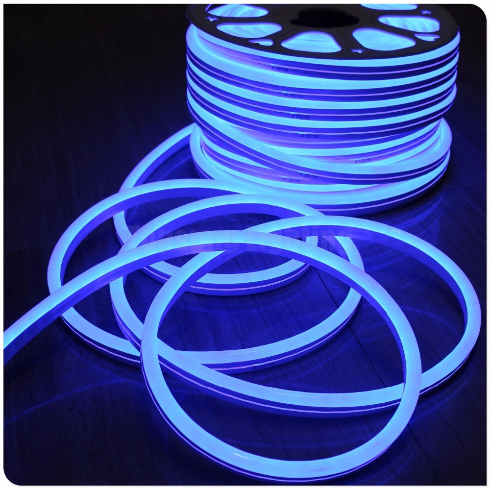 50meter spool ultra slim 10x18mm Super bright 220V 120LEDs/m LED Neon sign light flex rope PVC LED light for Night bar, Disco ...