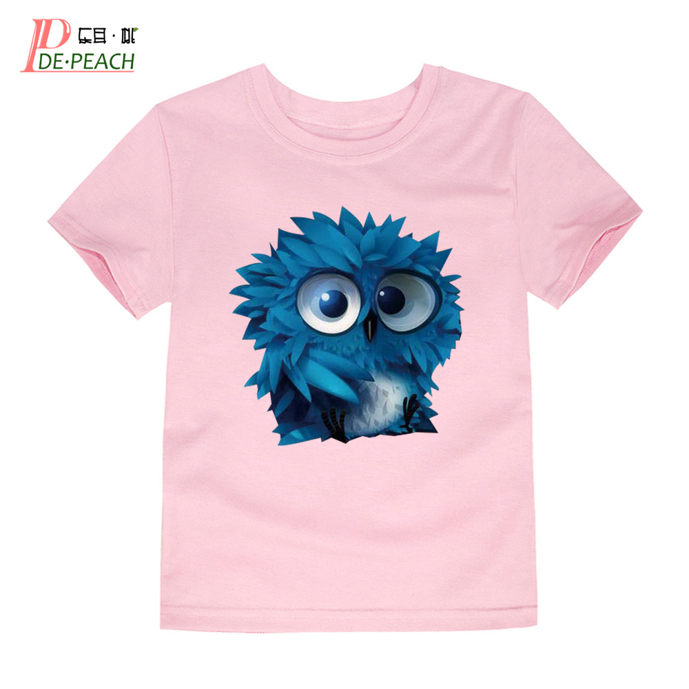 Baby Girls Boys 3d T Shirt Summer Cotton Boy Brand Owl