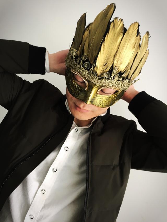 Boys Skullies&Beanies hats The Baroque style caps golden duck feather costume ball mask masque outfit ballroom womens head wear baby skullies boys caps headwear chapeau beanies