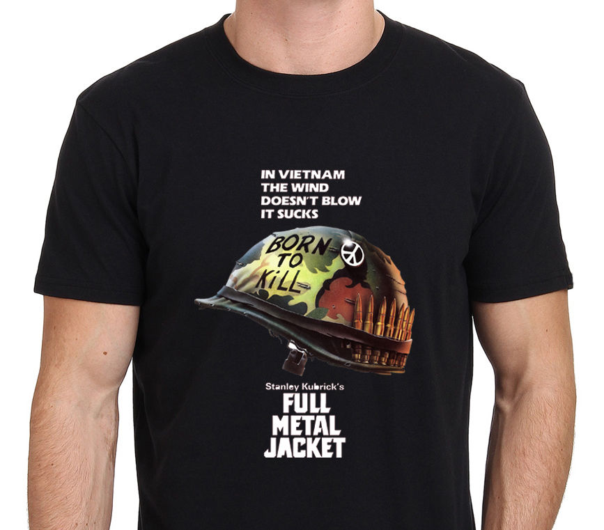 FULL METAL JACKET - STANLEY <font><b>KUBRICK</b></font> VINTAGE MOVIE T-Shirt Size S-to-XXXL O-Neck T Shirt Harajuku Tops Tees Normal image