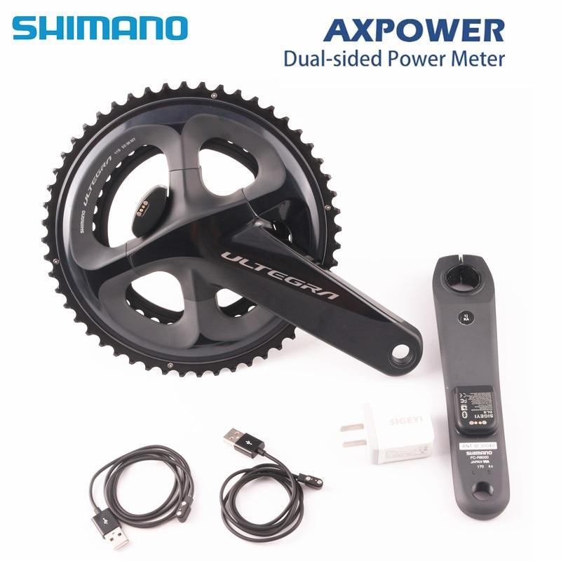 SHIMANO ULTEGRA R8000 Road bike bicycle Crankset with SIGEYI AX-POWER METER Crank 170mm 172.5mm Crankset 52-36T 50-34T 53-39t