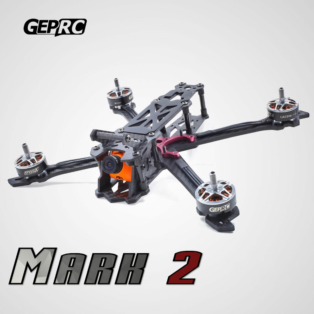 GEPRC GEP Mark2 Mark 200mm 230mm 260mm X Quacopter Drone Frame Kit 4mm Arm Board 3K Full Carbon Fiber 3~4S for DIY Multirotors geprc diy fpv mini drone gep bx5 flyshark quadcopter 3k pure carbon fiber frame for the racing 4 5 6 4mm main arm plate