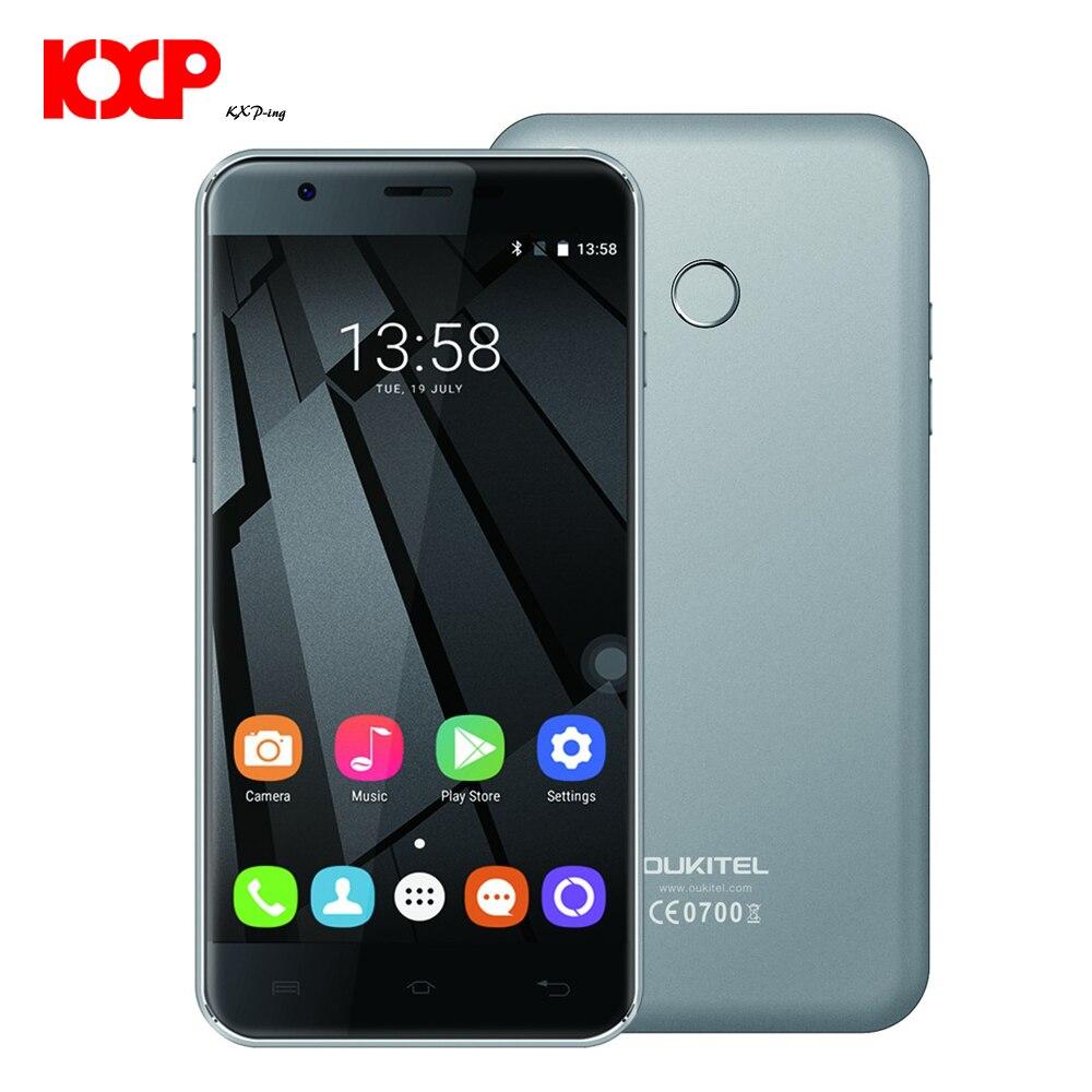 Original Oukitel MT6737 U7 Plus de 5.5 polegadas Quad Core telemóvel 4G LTE 2G RAM 16G ROM 8MP Câmera Traseira Android 6.0