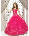 Hot sale strapless a line vestidos de bordado 2016 organza vestidos vestido de debutante vestido online