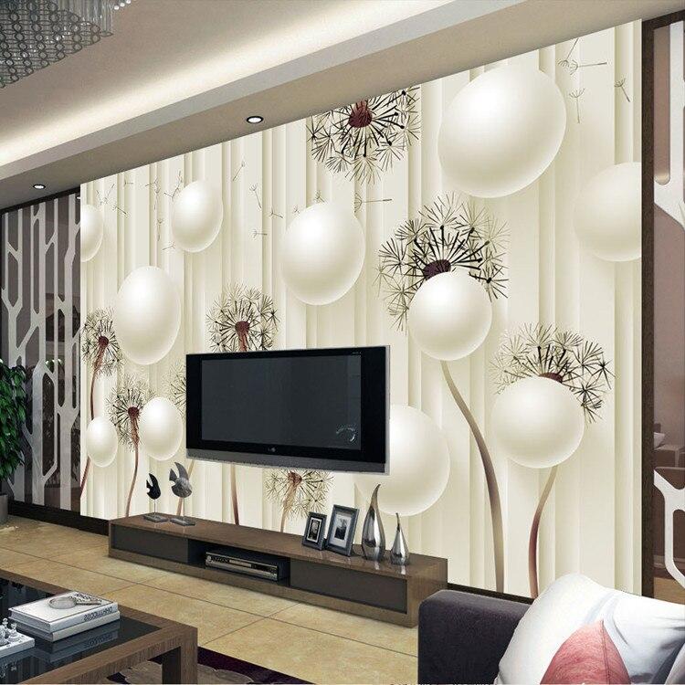 3d Flower Mural Wallpaper Custom Photo Wallpaper 3d Dandelion Wallpaper Elegant Wall