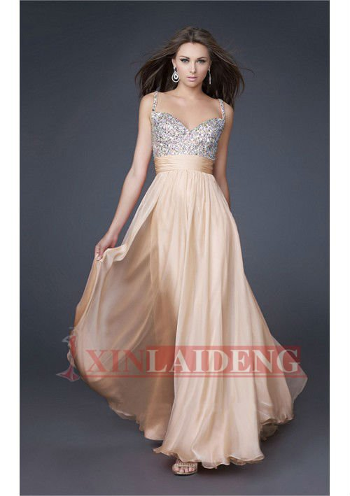 PMD005 most beautiful baby pink sweetheart beaded bust puffy prom ...
