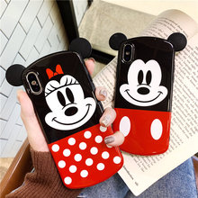 Cute Cartoon 3D Couple Phone Cover For iPhone X XR XS Max Case Polka Dot Soft Back Cover Case For iPhone 6 6S 7 8 Plus Capa relief polka dot skull style glow in the dark protective plastic back case for iphone 4 black