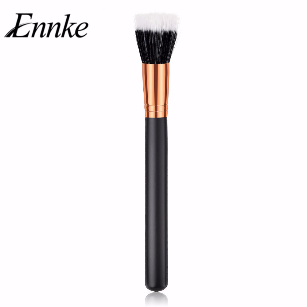 1pcs Professional Face Makeup Brushes Synthetic Hair Single Powder Blush Brush  Foundation Tapered Flat Highlighter Brush