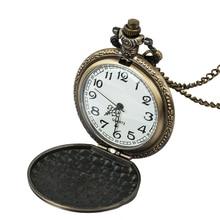 все цены на Vintage Watch Necklace Steampunk Skeleton Mechanical Fob Pocket Watch Clock Pendant Hand-winding Men Women Chain Gift онлайн