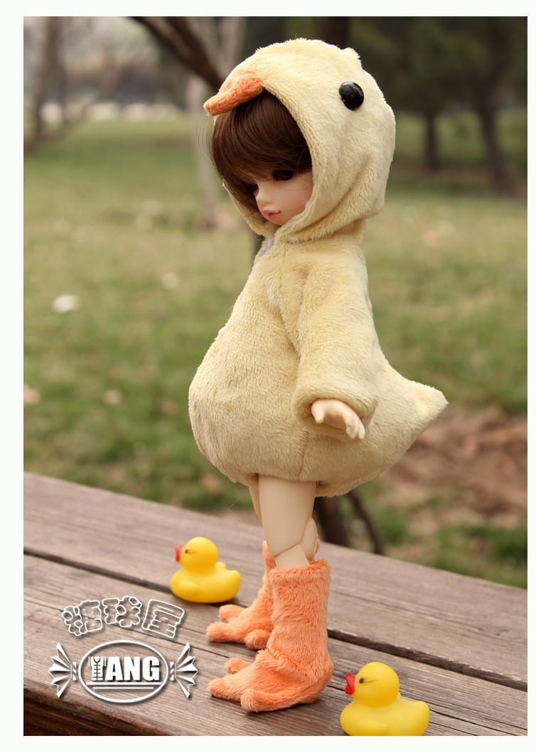 Lovely Chicken Animal Clothes for BB 1/6 YOSD BJD Doll Super Dollfie Luts AS,DZ Doll Clothes AL19 bjd bb black high leather boots for 1 6 yosd super dollfie luts dod as dz doll shoes sb16