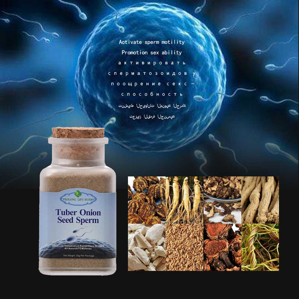 Prolong Lifu Tuber Onion Seed Sperm Herbs for Sperm Regeneration, Increase Sperm Cure Male Infertility, Cure Sperm Death Disease