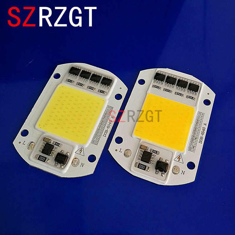 Светодиодный чип COB лампы 50 Вт 220 в 110 В вход умный IC драйвер подходит для наружного DIY Светодиодный прожектор Прожектор холодный теплый белый