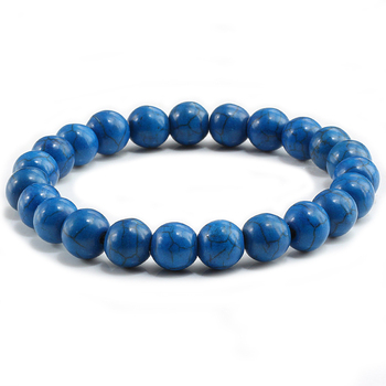 High Quality Blue White Green Red Natural Turquoises Stone Bracelet Homme Femme Charms 8MM Men Strand Beads Yoga Bracelets Women 1