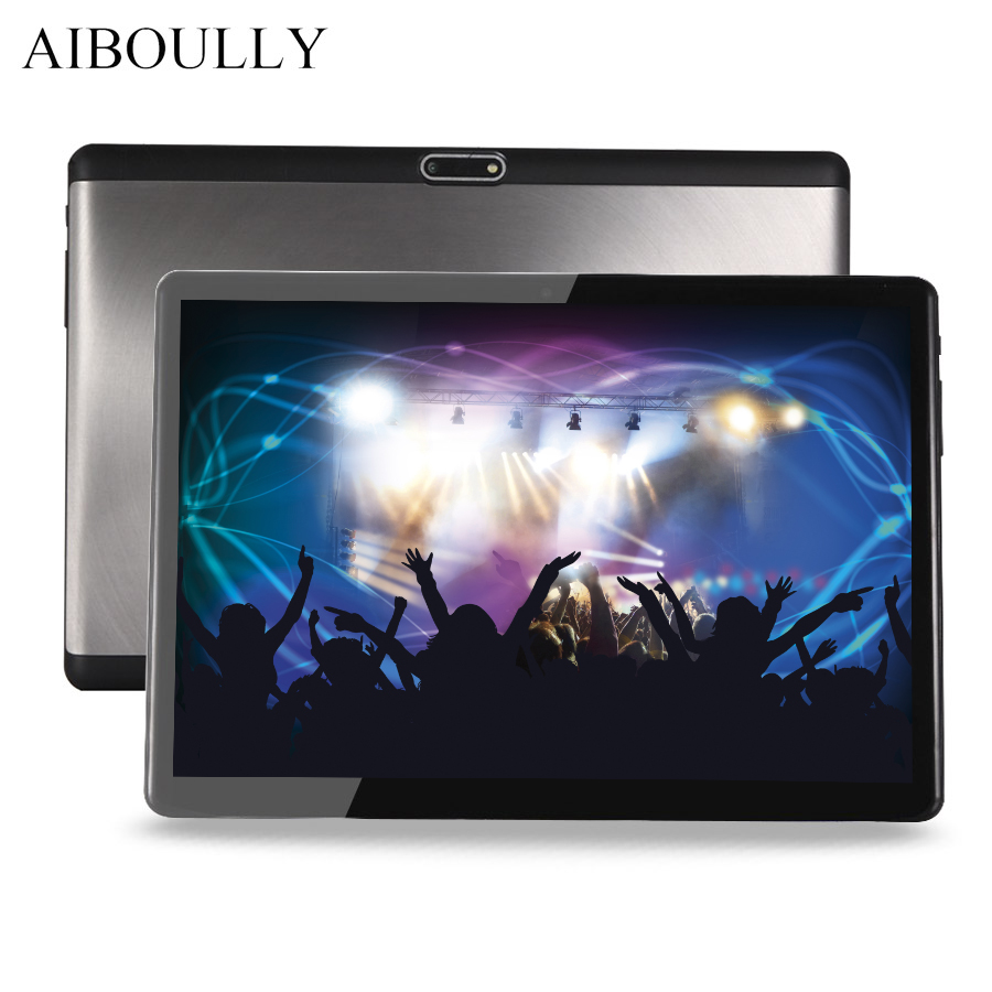 AIBOULLY 2018 Original 10.1 inch Tablet PC Android 7 1920x1200 4G RAM 3G Phone Call Tablets LTE 1280*800 FM A-GPS Android Tab 8' lnmbbs 8 inch tablet phone call android 7 0 tablet original 8 core 4g lte 1280 800 2g ram 32g rom function wifi gps otg multi
