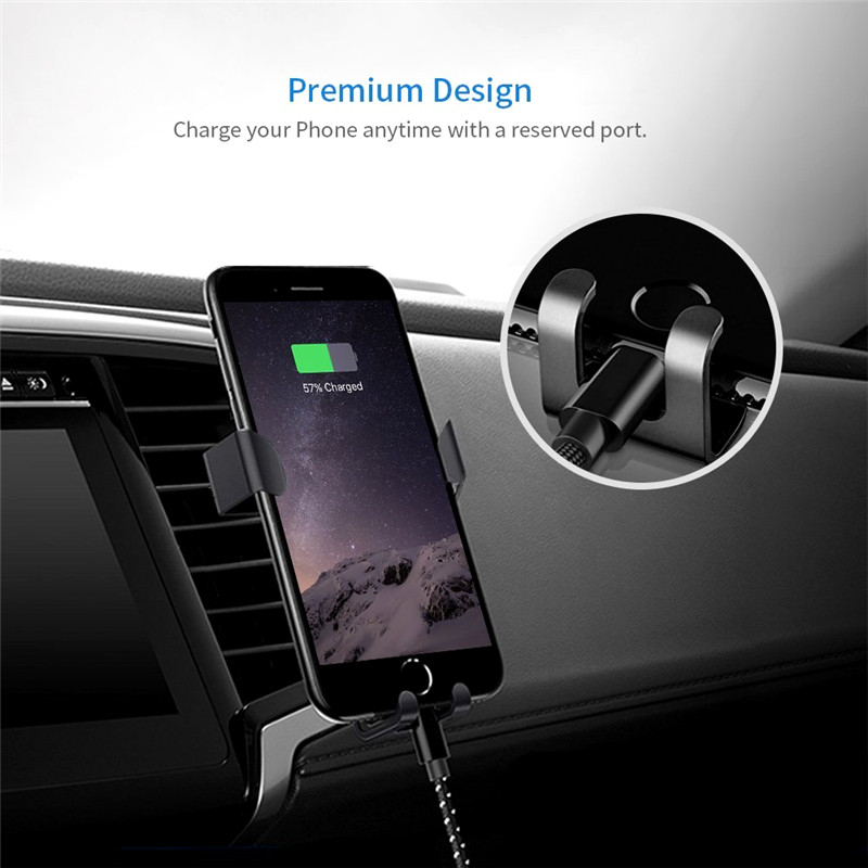 Image 3 - Gravity Bracket Car Phone Holder Flexible Universal Car Gravity Holder Support Mobile Phone Stand For iPhone Xr Xs Max Samsung-in Phone Holders & Stands from Cellphones & Telecommunications