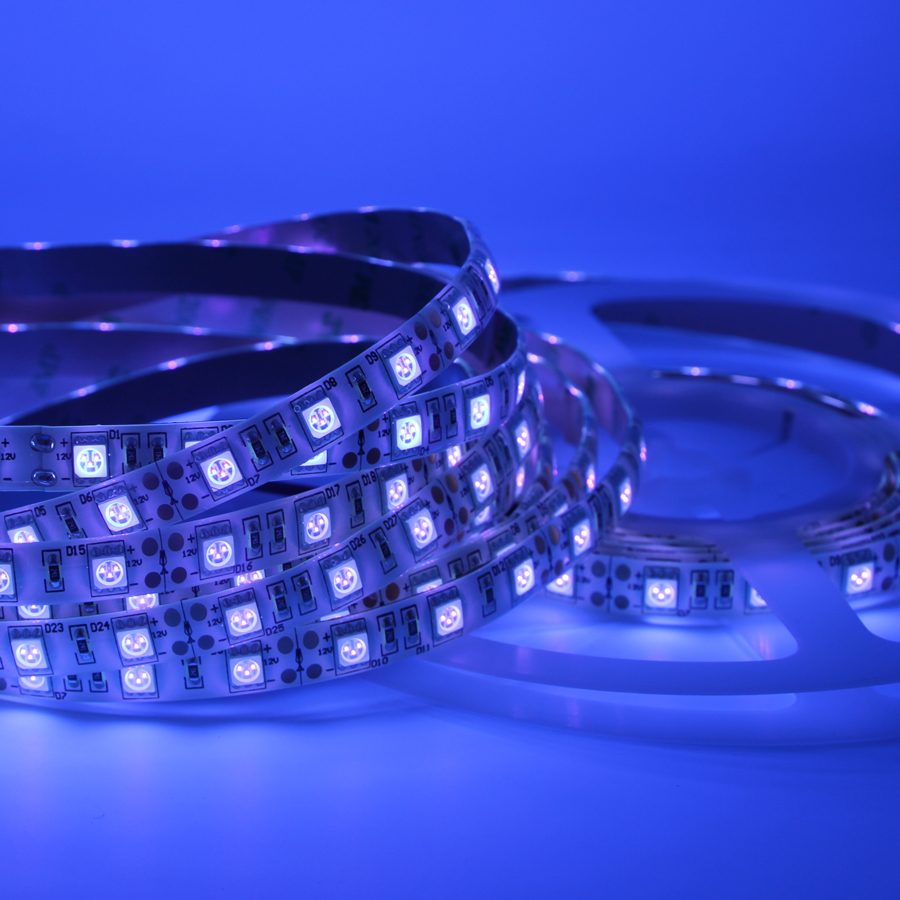 UV Led Strip light 5050 SMD 60leds/m 395-405nm Ultraviolet Ray LED Diode Ribbon Purple Flexible Tape lamp for DJ Fluorescence