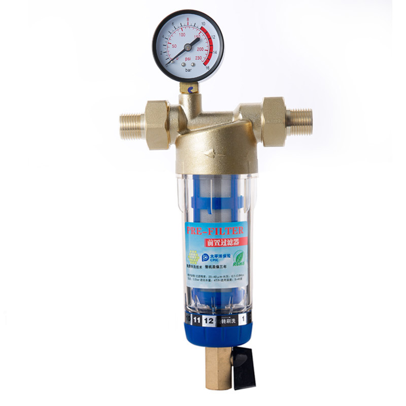 Siphon backwash Prefilter water filter First step of water purifier system brass stainless steel mesh prefiltro wiper HydrometerSiphon backwash Prefilter water filter First step of water purifier system brass stainless steel mesh prefiltro wiper Hydrometer